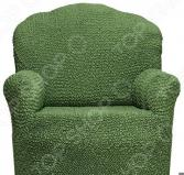 Натяжной чехол на кресло Еврочехол «Микрофибра. Зеленый»