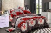 Комплект постельного белья «Цветочный Вальс». 2-спальный. Рисунок: страсть