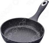 Сковорода глубокая Mayer&Boch «Мраморная крошка». Цвет: черный