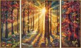 Набор для рисования по номерам Schipper «Триптих. Осенний лес»