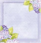 Бумага для скрапбукинга двусторонняя Rayher «Лиловые цветки»