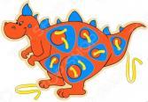 Игрушка развивающая WOODY «Шнурозаврик-2»