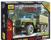 Сборная модель армейского грузовика Звезда «Урал 4320»