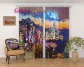Фототюль Сирень «Закат в Гонконге»