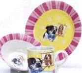Набор посуды для детей Loraine LR-27119 «Собачка»