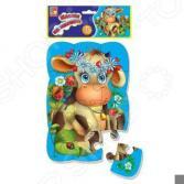 Пазл магнитный Vladi Toys «Коровка»