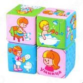 Кубики обучающие мягкие Мякиши «Режим дня»