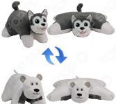 Подушка-игрушка 1 Toy «Вывернушка 2в1: Хаски-Полярный Медведь»