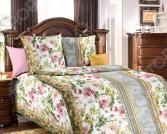 Комплект постельного белья Белиссимо «Адель». 1,5-спальный. Цвет: зеленый