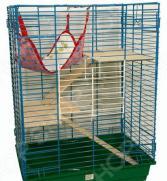 Клетка для шиншилл и хорьков ZOOmark с деревянными этажами и гамаком