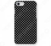 Чехол для iPhone 5 Mitya Veselkov «Белые сердечки на черном»