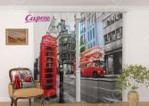 Фототюль Сирень «Черно-белый Лондон»