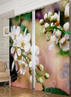 Фотошторы блэкаут Сирень «Цветущая черемуха»