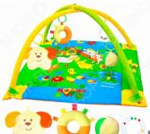 Коврик игровой Мякиши с дугами «Лужайка с собачкой». В ассортименте
