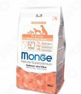 Корм сухой для щенков всех пород Monge Natural Superpremium All Breeds Puppy and Junior Salmon and Rice