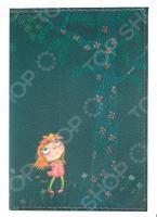 Обложка для автодокументов кожаная Mitya Veselkov «Девочка в розовом платье ночью»