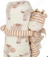 Плед детский с игрушкой Santalino «Полосатый жирафик» 851-012