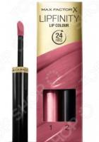 Набор: стойкая помада и увлажняющий блеск для губ Max Factor Lipfinity Essential