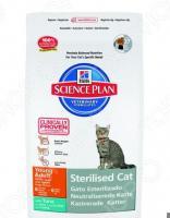 Корм сухой для стерилизованных кошек Hill's Science Plan Sterilised Young Adult с тунцом