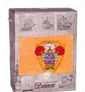 Полотенце махровое подарочное Dinosti «23 февраля: Щит». В ассортименте