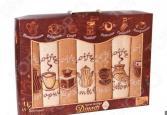 Комплект из 7-ми кухонных полотенец Dinosti «Неделька: Кофе. Чай»