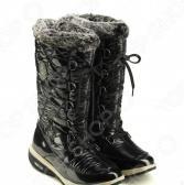 Сапоги зимние Walkmaxx Snow Boots. Уцененный товар. Цвет: черный