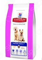 Корм сухой для пожилых собак миниатюрных пород Hill's Science Plan 7+ с курицей и индейкой