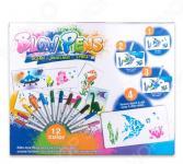 Набор фломастеров с распылителем Blow Pens «3в1: космос, динозавры, океан»