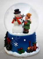 Снежный шар декоративный Crystal Deco «Снеговик с мальчиком»