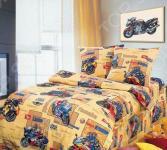 Комплект постельного белья ТексДизайн «Мото-спорт». 1,5-спальный