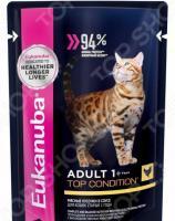 Корм влажный для кошек Eukanuba Adult Top Condition с курицей в соусе