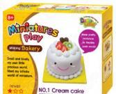 Набор для лепки Doner Land Miniatures Play «Кремовый торт»