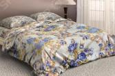 Комплект постельного белья «Голубые цветы». Евро