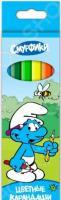 Набор карандашей цветных Росмэн «Смурфики»: 6 цветов