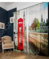 Фотошторы блэкаут Сирень «Символ Лондона»
