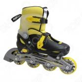 Детские роликовые коньки ATEMI AJIS-12.05 Neon hard boot yellow/black