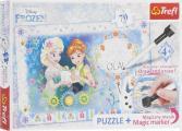 Пазл с фломастером Trefl «День рождения Анны - Frozen»