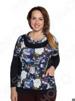 Блуза Матекс «Игривая весна». Цвет: синий