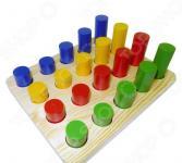 Игрушка развивающая RNToys «Цилиндры втыкалки 4 ряда»