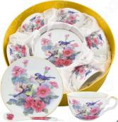 Чайный набор Elan Gallery «Синички в цветах»