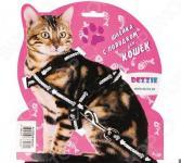 Набор для кошек: шлейка и поводок DEZZIE «Свит». Цвет: черный