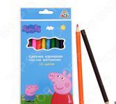 Набор толстых цветных карандашей Peppa Pig «Свинка Пеппа»: 12 цветов