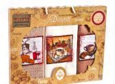 Комплект из 3-х кухонных полотенец Dinosti «Французский завтрак»