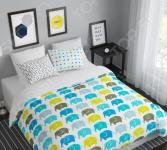 Комплект постельного белья Сирень «Слоны». 1,5-спальный