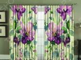 Комплект фотоштор МарТекс «Фиолетовая акварель»
