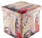 Пуф складной с ящиком для хранения EL Casa «Лондон Биг Бен»