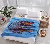 Плед флисовый ТамиТекс «Ловец снов». Цвет: синий
