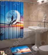 Набор для ванной комнаты: шторка и коврик ТамиТекс «Фауна»