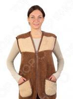 Жилет утепленный WoolHouse С.2.2.М. Цвет: коричневый, бежевый