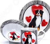 Набор посуды для детей Loraine LR-27115 «Собачка»
